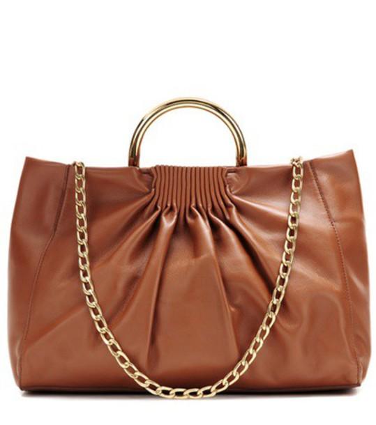 Stella McCartney Nina Medium Faux-leather Shoulder Bag in brown