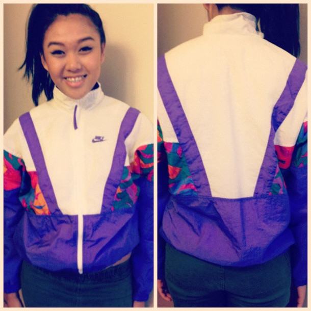 jacket windbreaker vintage nike air zip zip up collar geometric geometric coat