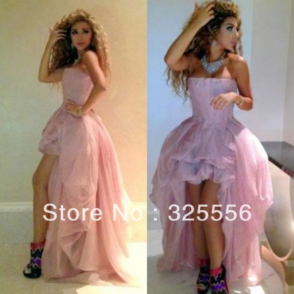 Aliexpress.com : Buy New Arrival Myriam Fares Pink Short Front Long Back Celebrity Dress Bandage Dress from Reliable bandage ombre dress suppliers on My Queen's Wedding Store