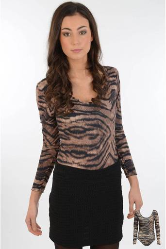 Womens Kara Tiger Print Body | Pop Couture