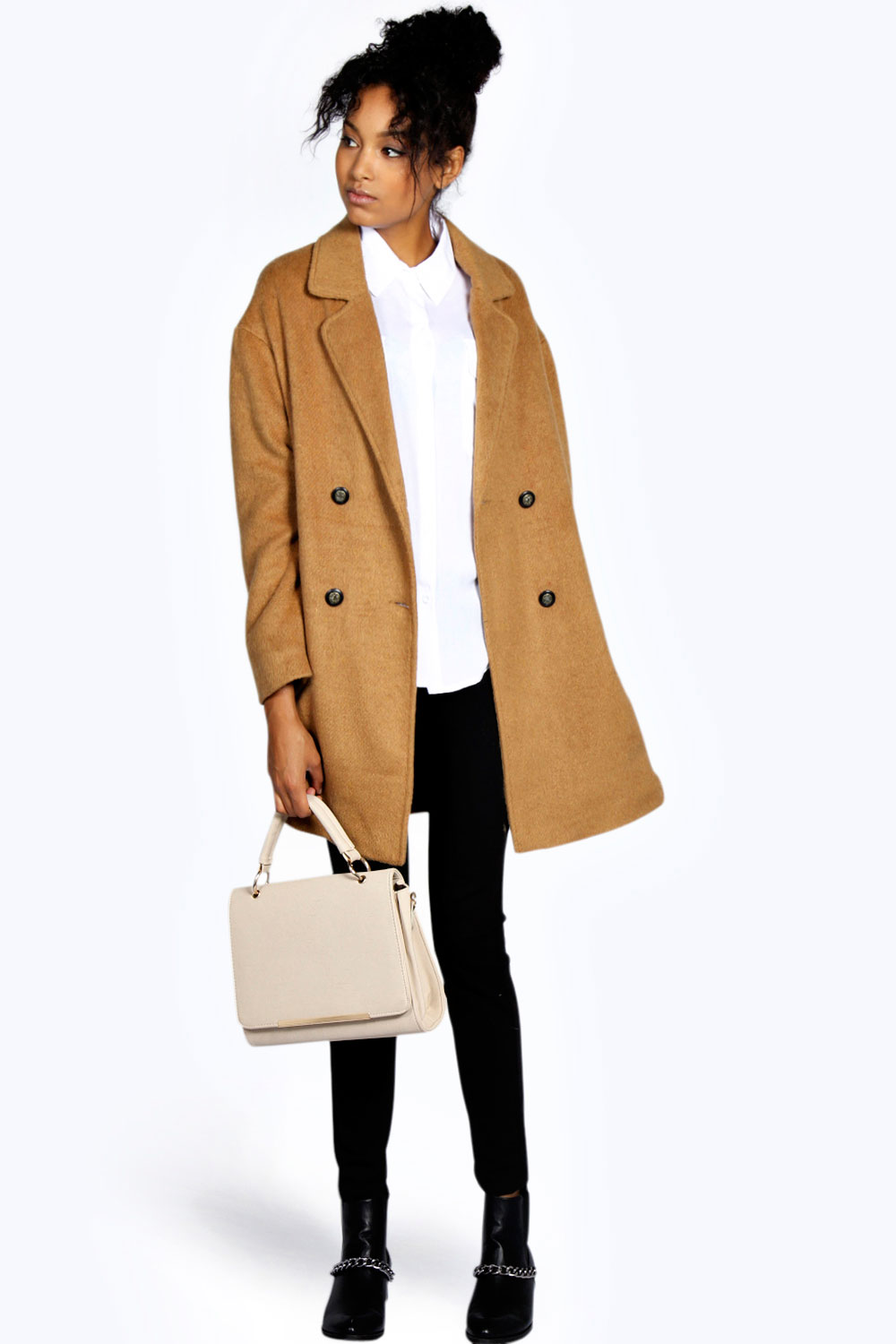 Oversized Brushed Wool Boyfriend Coat