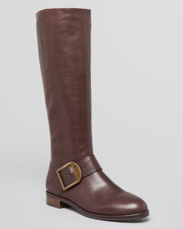 Via Spiga Tall Boots - Idola Buckle Flat | Bloomingdale's