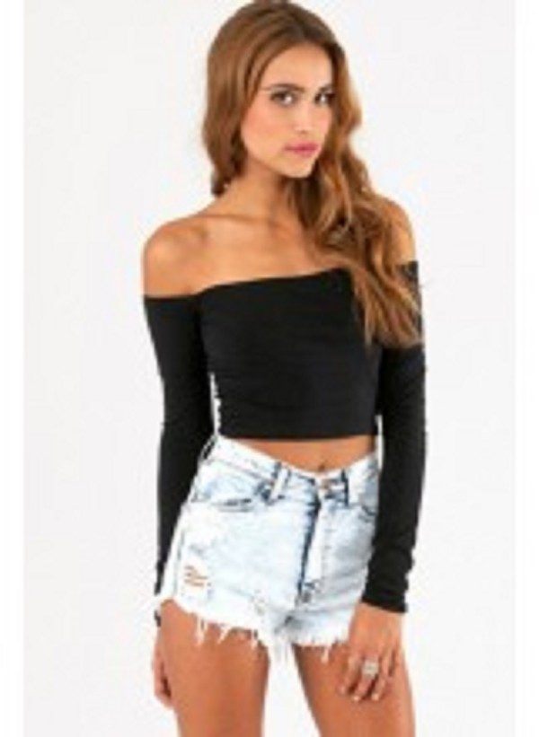 top topshop crop tops off the shoulder top