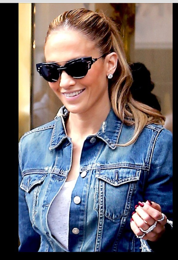 sunglasses jennifer lopez denim jacket jacket