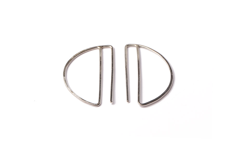Lila Rice Small Deco Hoops