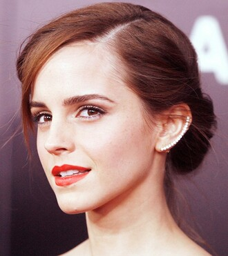 jewels earrings diamonds cuff emma watson