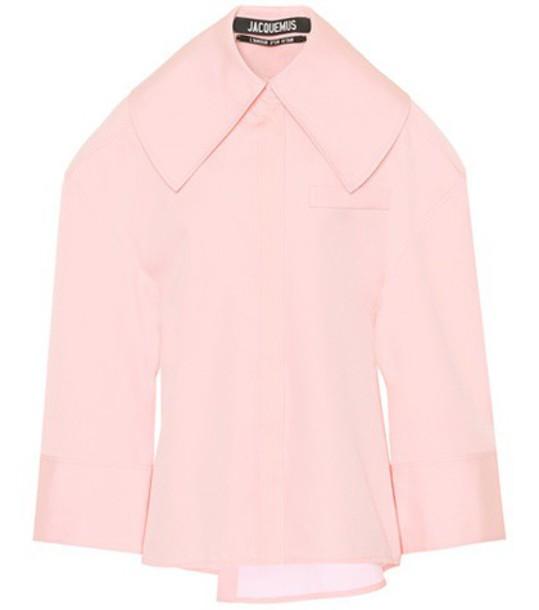 Jacquemus blouse car cotton pink top