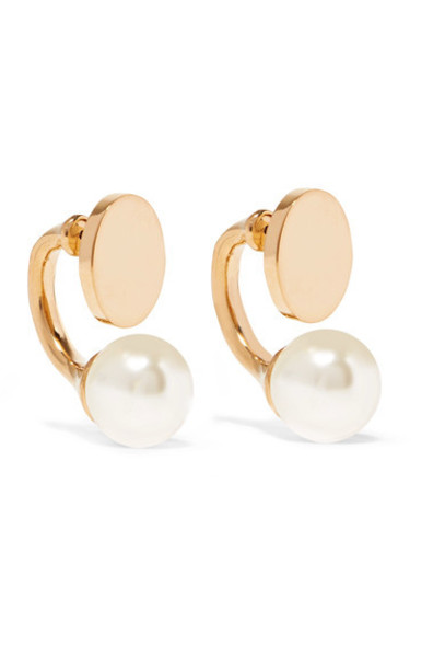Chloe pearl earrings pearl earrings gold jewels