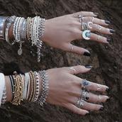 jewels,bracelets,hippie,bohemian,boho jewelry,boho rings,jewelry,labradorite ring,shop dixi,knuckle ring,moon rings,crescent moon,crescent  moon ring,grunge,gypsy,gypset,Dusty Junk