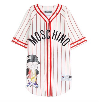 dress moschino fashion swag girl red white