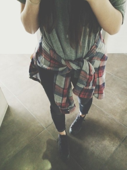 flannel plaid shirt grunge hipster grey grey shirt shirt pattern