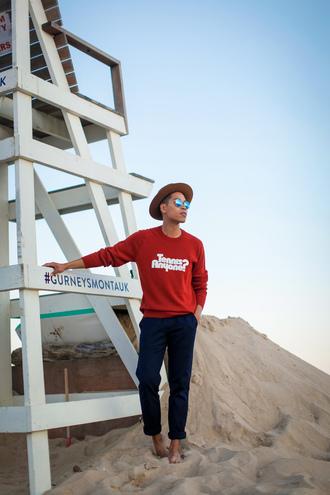 closet freaks blogger hat sweater sunglasses