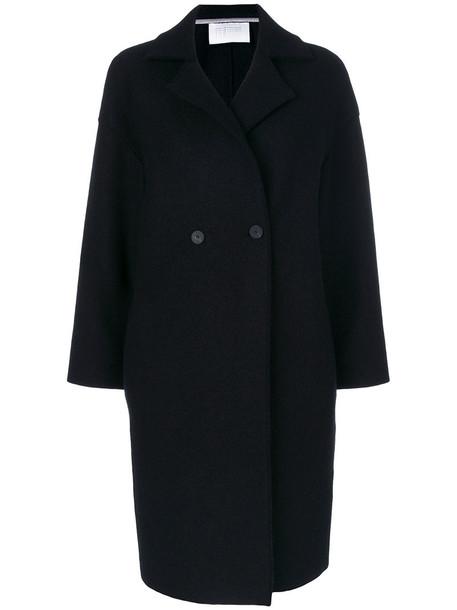 HARRIS WHARF LONDON coat double breasted women black wool
