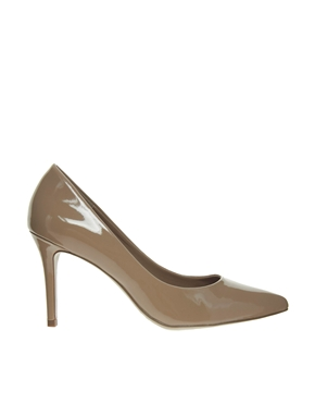 Mango | Mango Patent Heeled Pointed Court Shoes at ASOS