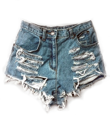 Original Sliced 420 Shorts - Arad Denim