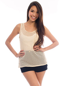 June Fully Crochet Layering Tank - Ellysage