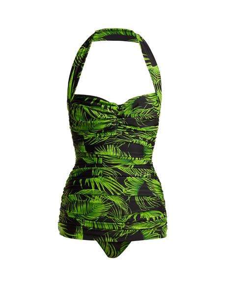 print green swimwear