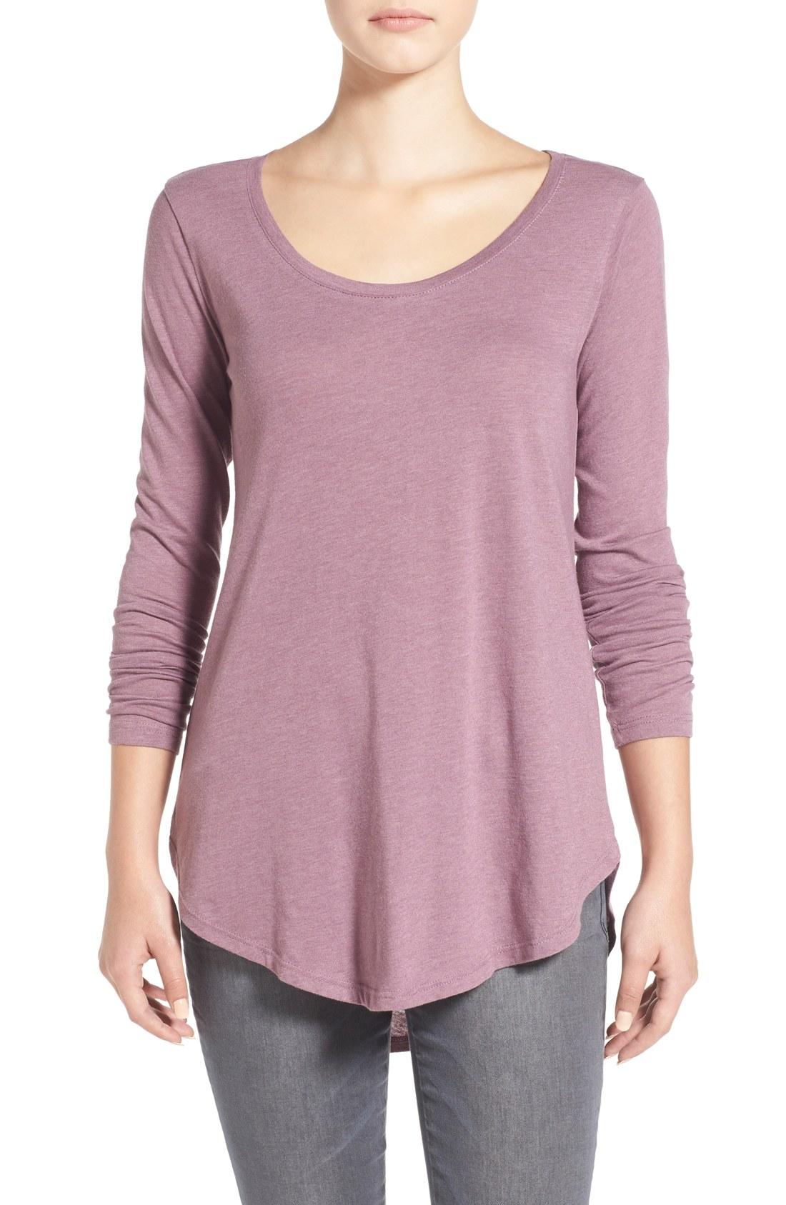 Bp scoop neck long sleeve tee nordstrom for Long sleeve scoop neck shirt