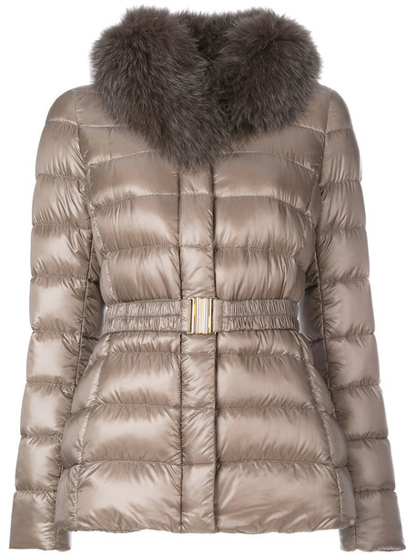 Herno jacket fur fox women cotton grey