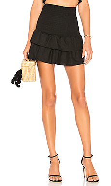 MAJORELLE Peaches Skirt in Black from Revolve.com