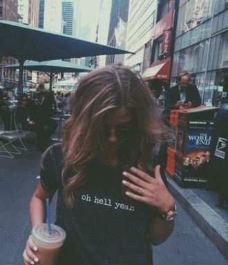 oh hell yeah eleanor jeans t-shirt city new york famous amazing eleanor calder quote on it fabulous amazing black elegant beautiful