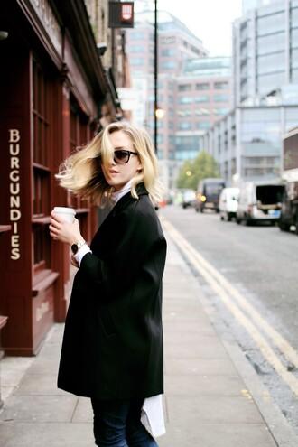 framboise fashion blogger sunglasses blazer