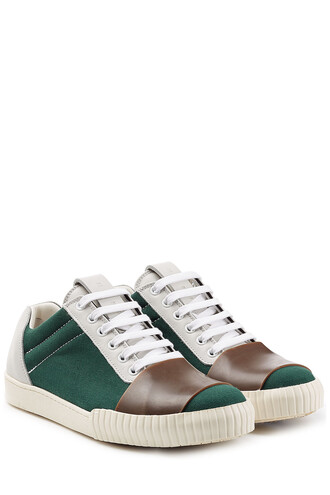 sneakers. sneakers leather green shoes
