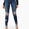 Distressed mid rise skinny jeans denim -shein(sheinside)