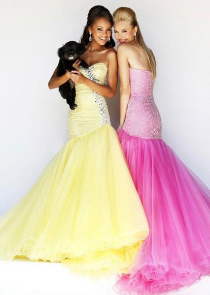 top prom dress sherri hill long prom dress yellow dress pink dress coral dress strapless 2015 prom dress