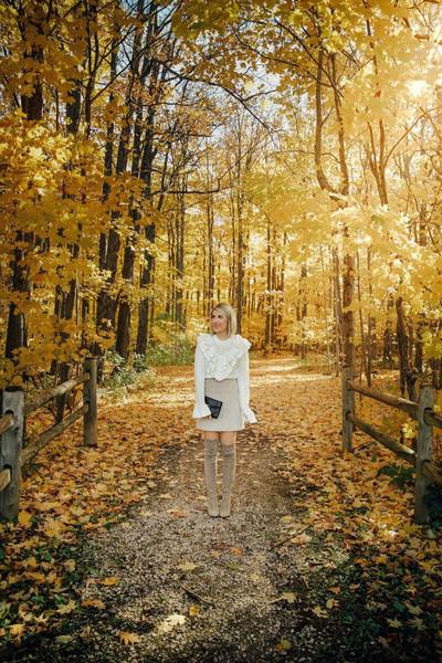 stephanie sterjovski - life + style blogger sweater skirt shoes