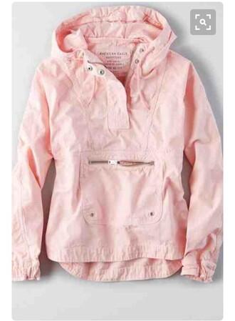 coat jacket love windbreaker pink jacket pink vintage pullover pullover rain jacket