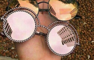 sunglasses pink rose gold round sunglasses
