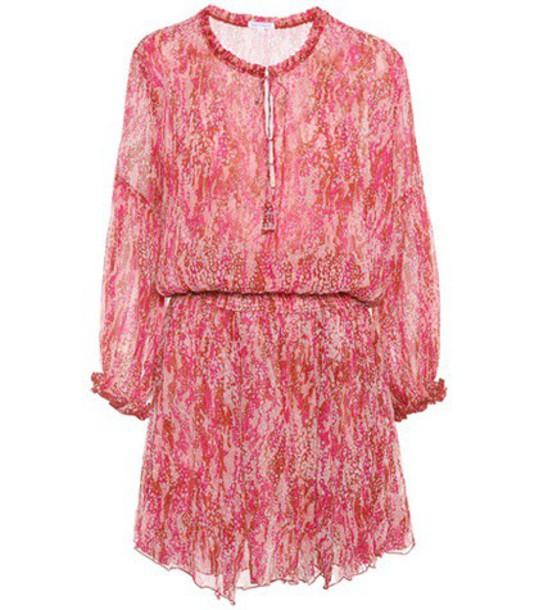Poupette St Barth dress silk dress silk pink
