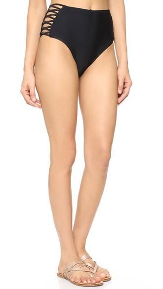 bikini bikini bottoms horse dark black swimwear