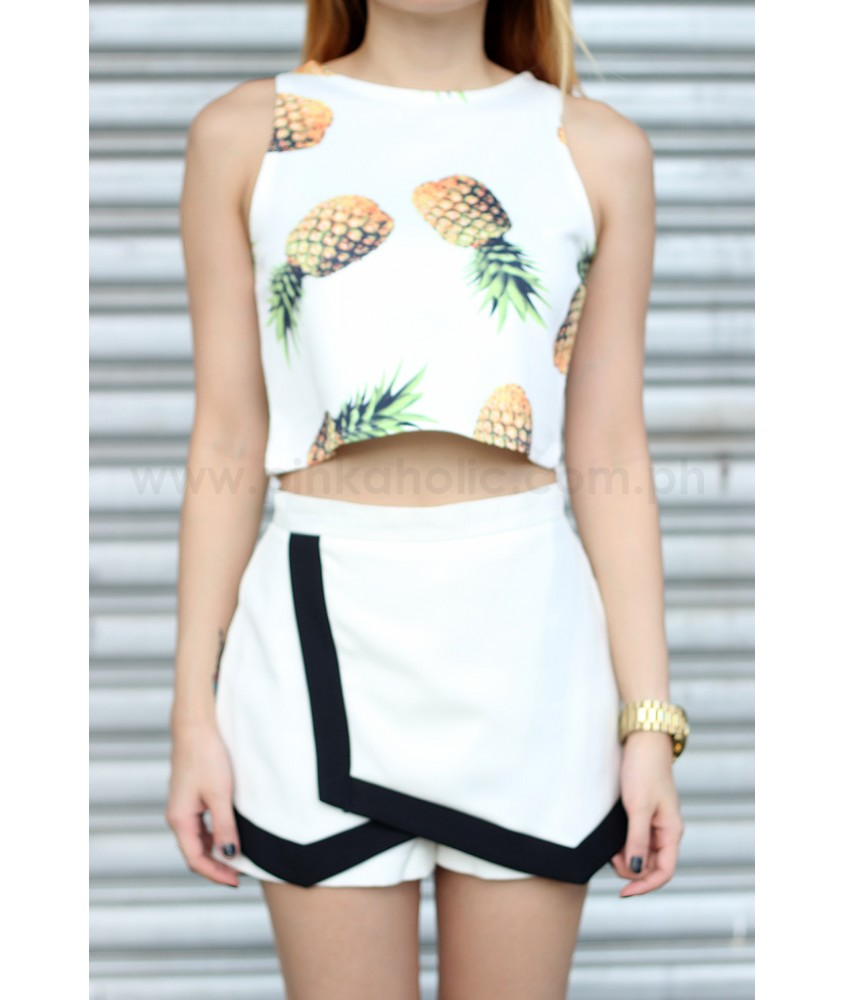 Pineapple Neoprene cropped top (more colors)