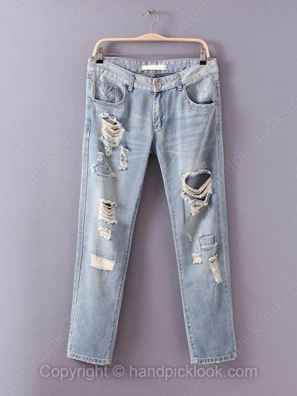 jeans denim light blue acid wash light wash jeans ripped jeans