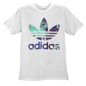 adidas originals graphic t shirt men 39 s casual clothing white purple blue. Black Bedroom Furniture Sets. Home Design Ideas