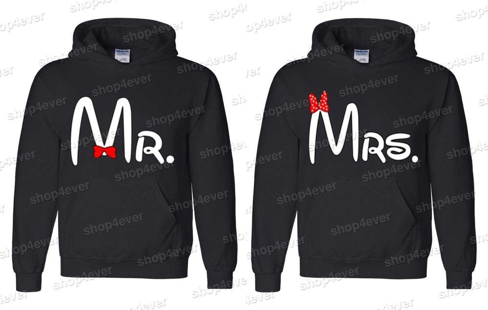 Couple Hoodies Mr Mrs Couple Love Super Cute Cartoon Hooded Sweatshirt | eBay