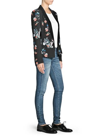 MANGO - Sale - Röcke - Blazer mit Blumenmuster