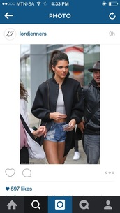 coat,kendall jenner,black,recent