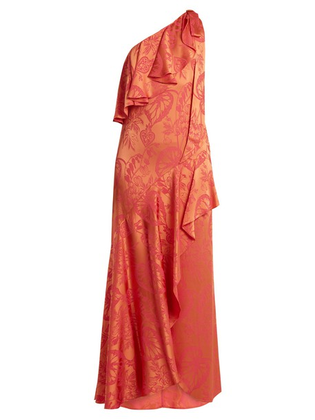 Temperley London gown jacquard satin pink dress