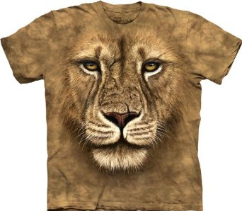 Amazon.com: The Mountain Men's Lion Warrior T-shirt: Clothing