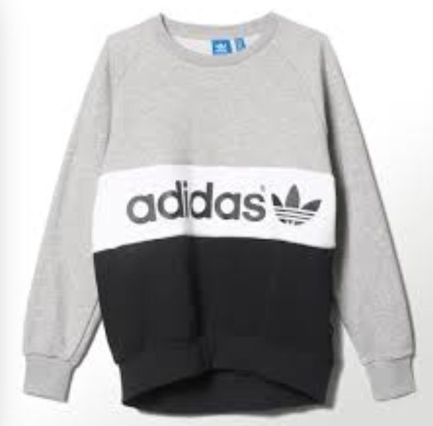 Sweater: adidas sweater, adidas, adidas sweater, tumblr, grey, top ...