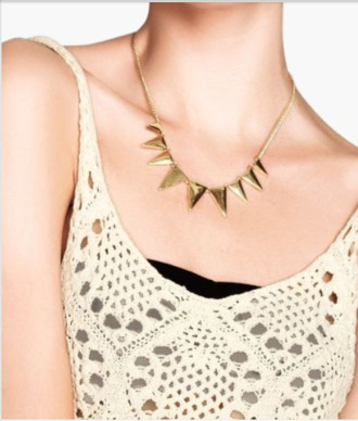 jewels chain gold white black lace bandeau necklace