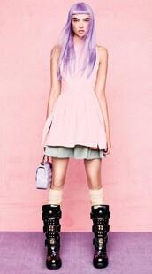 dress,pink,pastel pink,mini dress