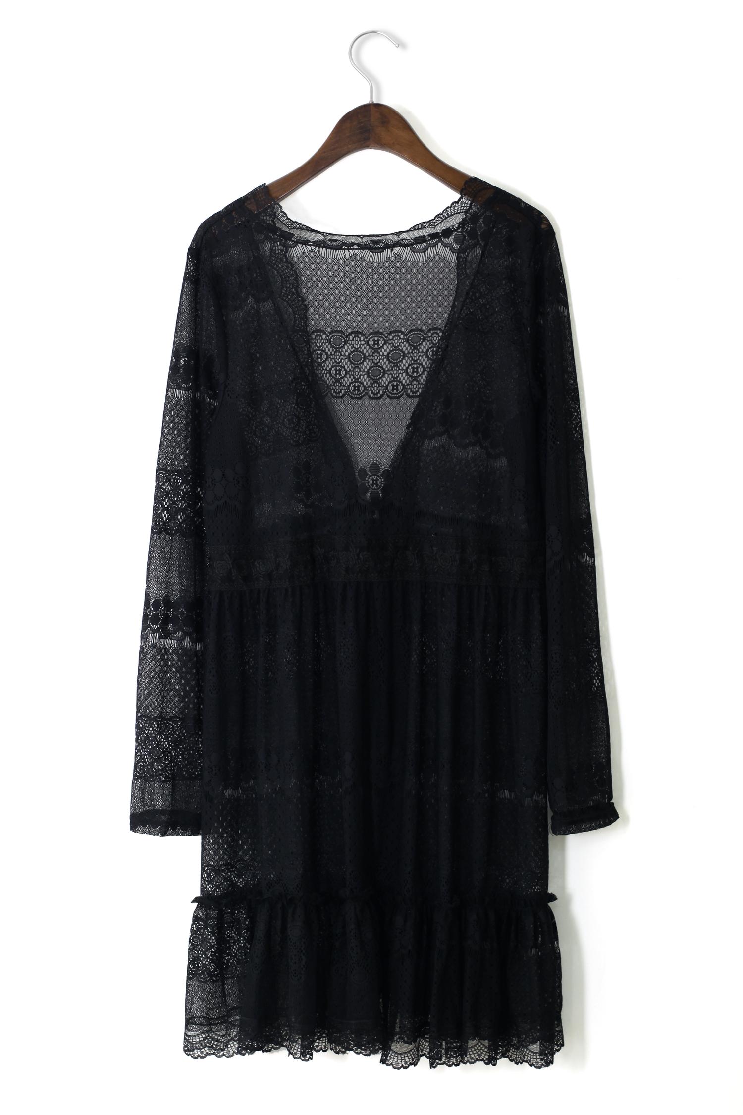 Full Lace Cardigan in Black - Retro, Indie and Unique Fashion