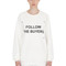 "Follow the buyers"" cotton sweatshirt"