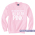 On Wednesdays We Wear Pink Sweatshirt - teenamycs