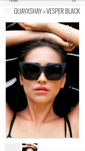 sunglasses,black,shay mitchell,matte