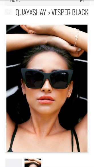 sunglasses black shay mitchell matte